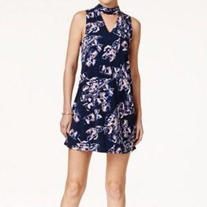 NWT Ivanka Trump Navy Floral CutOut Mini Dress